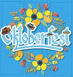 Hand sketched oktoberfest icon vector