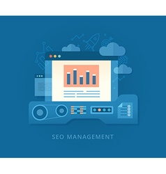 Seo Management and Developing Strategy vector image vector image