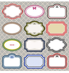 set of retro styled frames vector image vector image
