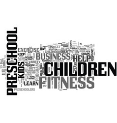 a preschool children s fitness business helps vector image vector image