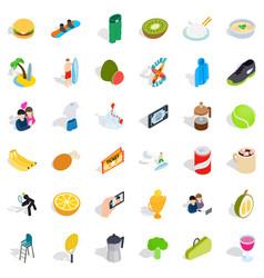 energetic icons set isometric style vector image vector image