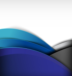 Abstract background curve and overlap layer 001 vector image