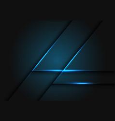 Abstract blue light line on dark grey geometric vector