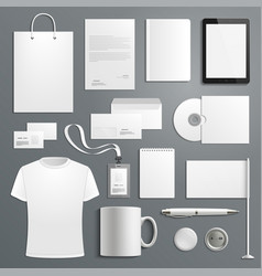 Accessory templates for business branding vector