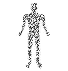 alien embryo person figure vector image