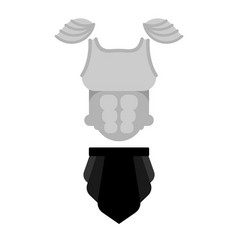 Armor knight chest armour metal shoulder pads vector