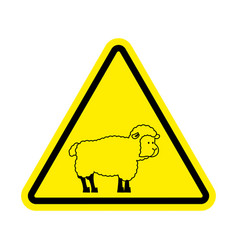 Attention of sheep caution farm is an animal vector
