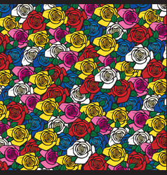 background pattern with roses vector image