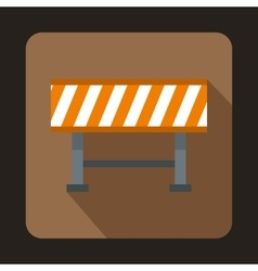 Barrier icon flat style vector