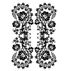 basic pattern black vector image