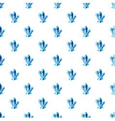 Blue crystals pattern vector