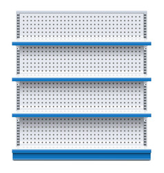 blue supermarket rack vector image