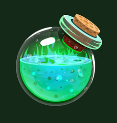 bottle of acid game icon of magic elixir vector image
