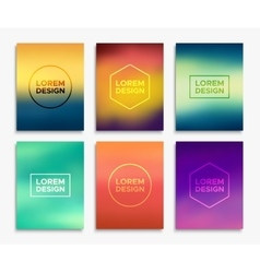 Brochure flyer layouts in A4 size banners vector image