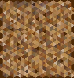 Brown color hexagon pattern background vector image