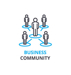 Business community concept outline icon linear vector
