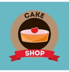 Cake and desserts shop vector