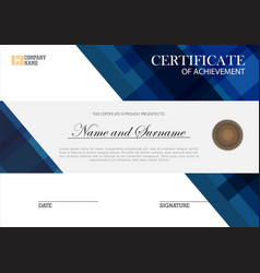 Certificate template elegant design vector