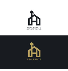 clean house logo concept design with arrow symbol vector image