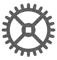 Clock Gear Grainy Texture Icon vector image