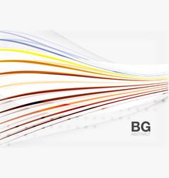 Color stripes wave lines modern geometric vector