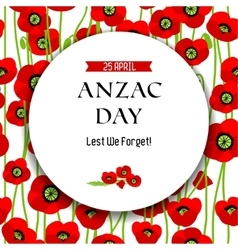 Commemorative Anzac day background vector