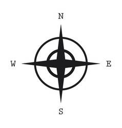 compass icon isolated on white background vector image