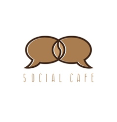 concept of bubble in coffee bean shape vector image