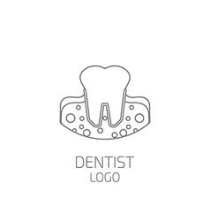 Dentist logo tooth logo vector
