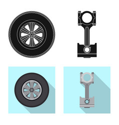 Design of auto and part sign collection of vector