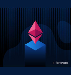 digital currency ethereum criptocurrency chrystal vector image