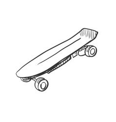 Doodle skateboard vector image