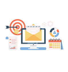 E-mail marketing campaign flat vector