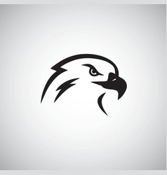 eagle logo mascot template simple vector image