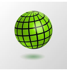 Earth globe icon vector