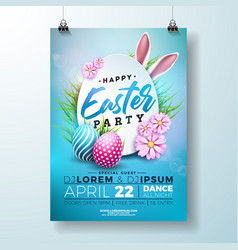 easter party flyer vector image