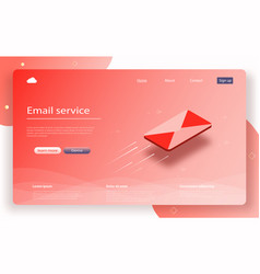 email service isometric vector image