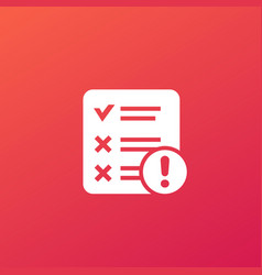 failed test icon for web vector image