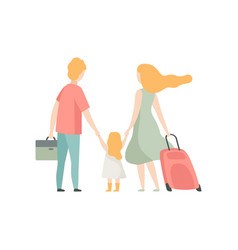 family travelling together father mother and vector image