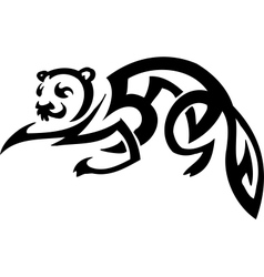 Ferret in tribal style vector