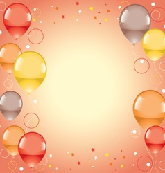 festive colorful balloons vector image