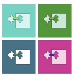 Flat icon design collection last piece puzzle vector