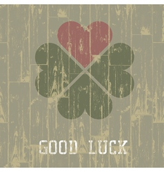 Good luck retro symbol vector