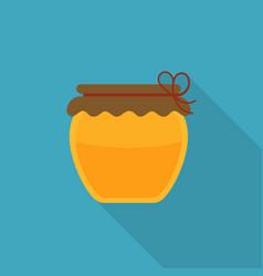 Honey jar icon in flat long shadow design vector
