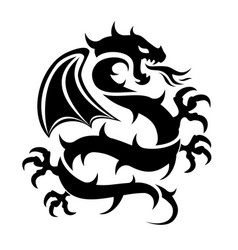icon flying dragon vector image