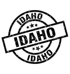 Idaho black round grunge stamp vector