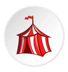 Knights tent icon cartoon style vector