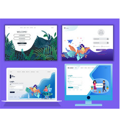 Landing page ddesign vector