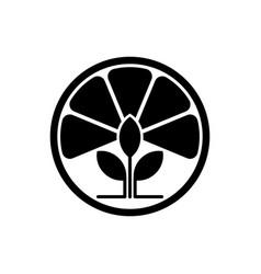lemon tea leaf logo template design and support vector image