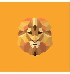 lion golden orange mane low poly style modern vector image